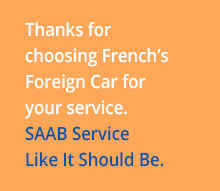 Thanks for Choosing French's Foreign Car